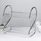 Сушилка для посуды Доляна «Стойка», S-образная, 40×23,5×34 см, фото 2