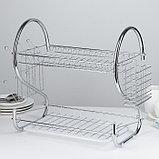 Сушилка для посуды Доляна «Стойка», S-образная, 40×23,5×34 см, фото 3