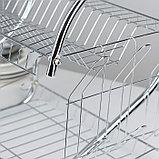 Сушилка для посуды Доляна «Стойка», S-образная, 40×23,5×34 см, фото 4