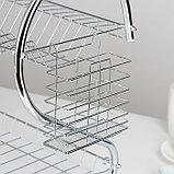 Сушилка для посуды Доляна «Стойка», S-образная, 40×23,5×34 см, фото 5