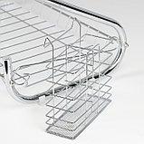 Сушилка для посуды Доляна «Стойка», S-образная, 40×23,5×34 см, фото 7