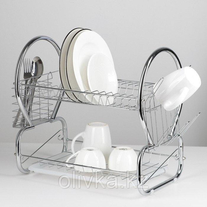 Сушилка для посуды Доляна «Стойка», 8-образная, 40×23,5×34 см