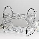 Сушилка для посуды Доляна «Стойка», 8-образная, 40×23,5×34 см, фото 2