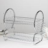 Сушилка для посуды Доляна «Стойка», 8-образная, 40×23,5×34 см, фото 3