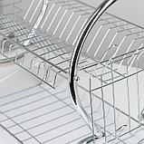 Сушилка для посуды Доляна «Стойка», 8-образная, 40×23,5×34 см, фото 4