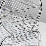 Сушилка для посуды Доляна «Стойка», 8-образная, 40×23,5×34 см, фото 5