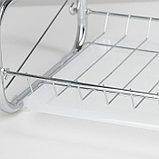 Сушилка для посуды Доляна «Стойка», 8-образная, 40×23,5×34 см, фото 8