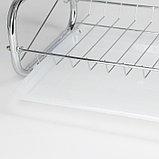 Сушилка для посуды Доляна «Стойка», 8-образная, 40×23,5×34 см, фото 9