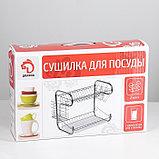 Сушилка для посуды Доляна «Стойка», 8-образная, 40×23,5×34 см, фото 10