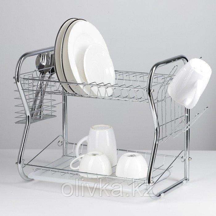 Сушилка для посуды Доляна «Стойка», В-образная, 40×23,5×34 см