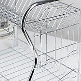 Сушилка для посуды Доляна «Стойка», В-образная, 40×23,5×34 см, фото 4