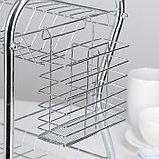 Сушилка для посуды Доляна «Стойка», В-образная, 40×23,5×34 см, фото 5
