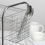 Сушилка для посуды Доляна «Стойка», В-образная, 40×23,5×34 см, фото 6