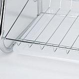 Сушилка для посуды Доляна «Стойка», В-образная, 40×23,5×34 см, фото 8