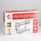 Сушилка для посуды Доляна «Стойка», В-образная, 40×23,5×34 см, фото 10