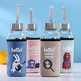 Бутылка в чехле Hello, 300 мл, 5,5×16,5 мл, цвет МИКС, фото 3