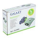 Весы кухонные Galaxy GL 2802, электронные, до 5 кг, LCD-дисплей, серебристые, фото 5