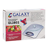 Весы кухонные Galaxy GL 2802, электронные, до 5 кг, LCD-дисплей, серебристые, фото 7