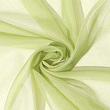 Тюль «Этель» 135×150 см, цвет светло-зеленый, вуаль, 100% п/э, фото 2