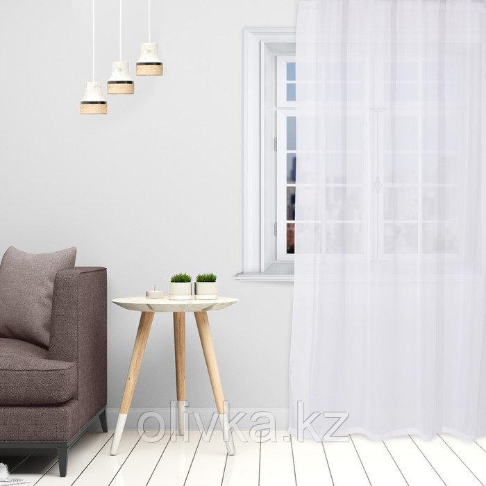 Тюль «Этель» 145×270 см, цвет белый, вуаль, 100% п/э