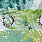 "Тюль Этель ""Тропики"" на люверсах 140х250 см,100% п/э, фото 3"