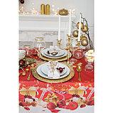 "Скатерть ""Доляна"" Новогодние подарки 145х120см,100% п/э, оксфорд 210 гр/м2, фото 2"