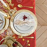 "Скатерть ""Доляна"" Новогодние подарки 145х120см,100% п/э, оксфорд 210 гр/м2, фото 5"