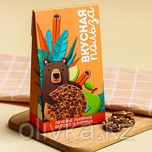 Льняное печенье «Польза», вкус яблоко и корица, 60 г. БЕЗ САХАРА И ГМО