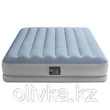 Кровать надувная Raised Comfort, 152 х 203 х 36 см, встроенный насос 220В, до 272 кг, 64168NP INTEX