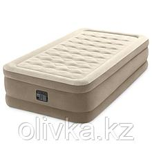 Кровать надувная Ultra Plush Bed, 99 х 191 х 46 см, встроенный насос 220В, 64426NP INTEX