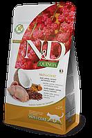 N&D перепел, киноа, кокос, куркума, здоровье кожи и шерсти, уп.5кг.