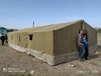 Палатка армейская брезентовая на каркасе 6 х10 м. 5 х 8 м.