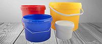 Цветные пластиковые ведра (от 0,55 до 32 л.)