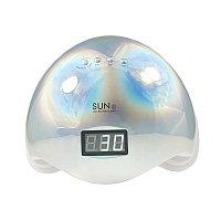 Гибридная лампа для сушки геля Sun 5 MIX, голография серебро