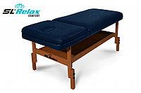 Массажный стол стационарный Comfort SLR-5 (синий)