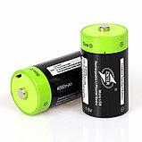 Аккумулятор D 1,5V 4000 mA с зарядкой от USB, фото 3