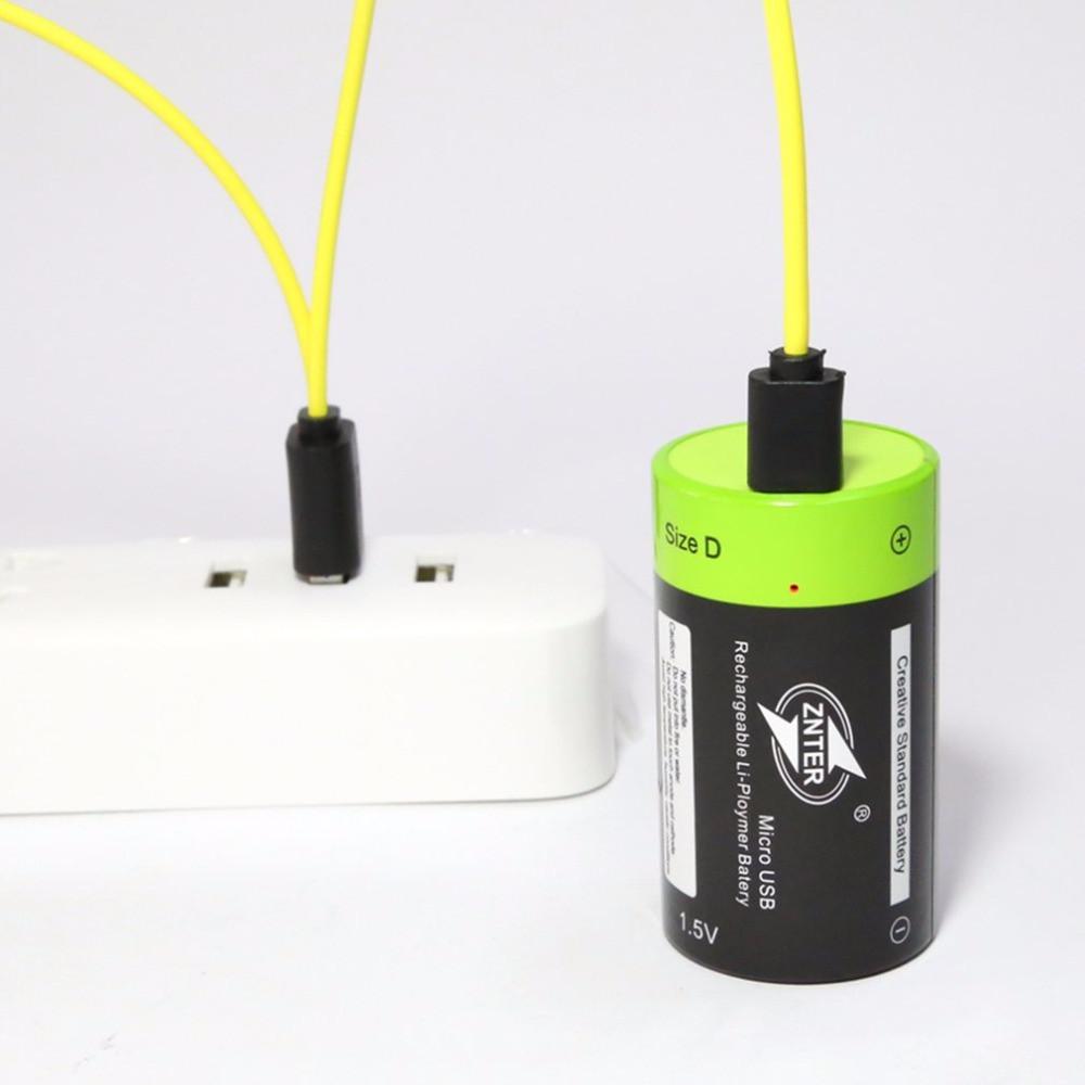 Аккумулятор D 1,5V 4000 mA с зарядкой от USB
