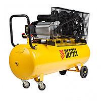 Компрессор воздушный ременный привод BCV2300/100, 2,3 кВт, 100 литров, 440 л/мин Denzel