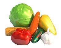 Набор Овощи, 7 предметов 23х10х20 см.