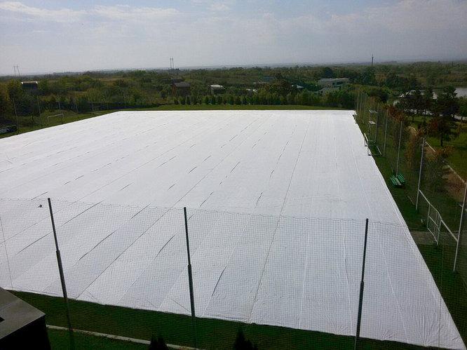 Укрывное (защитное) полотно на футбольное поле c натуральным газоном