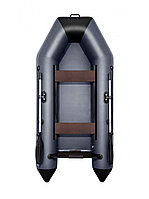 Надувная лодка АКВА 2800 слань-книжка киль графит/черный, фото 1
