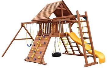 Уличные деревянные игровые площадки