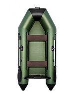 Лодка гребная надувная АКВА 2800 слань-книжка киль зелёный/черный, фото 1