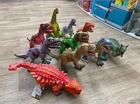 Игрушки динозавры резиновые