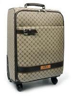 Дорожный чемодан на колесиках (4 колеса) с телескопической ручкой