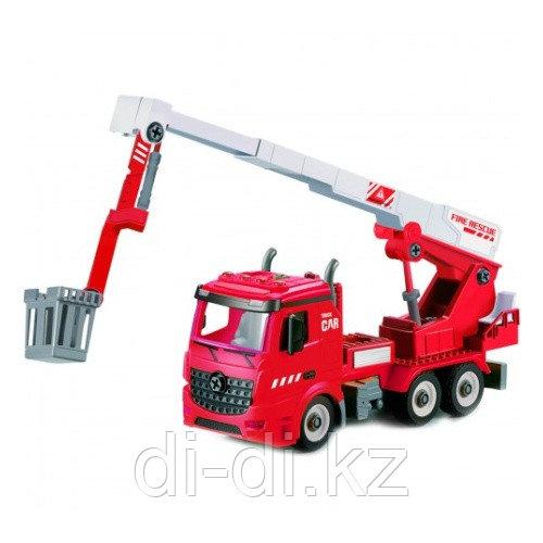 Машинка фрикционная Funky Toys Пожарная машина-конструктор с выдвижной стрелой, 1:12