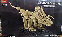Конструктор 81002 Decool Трицератопс динозавр