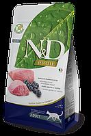 N&D ягненок, черника, уп.1,5кг
