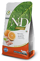 N&D рыба, апельсин, уп.1,5кг