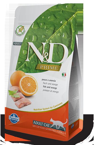 N&D рыба, апельсин, уп.5кг